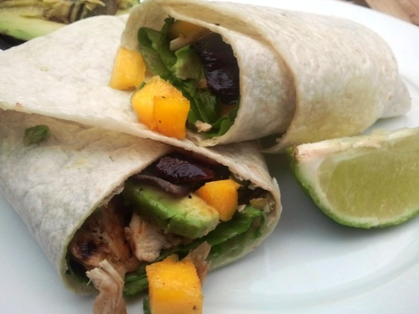Caribbean Jerk Chicken Wraps by Mason Jar Mimosas